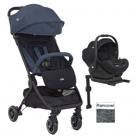 Joie Pact (i-Level) Travel System (With Isofix Base) - Navy Blazer