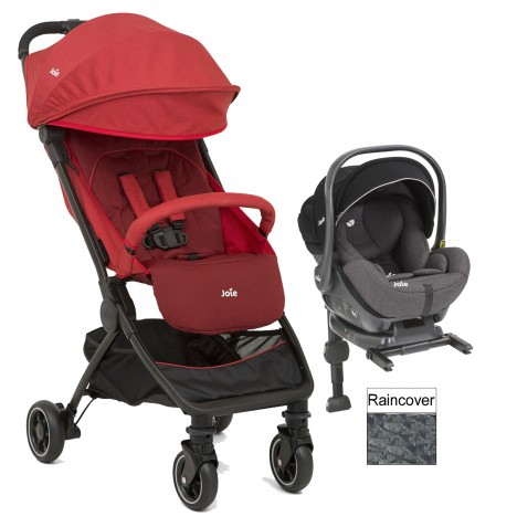 Joie Pact (i-Level) Travel System (With Isofix Base) - Cranberry