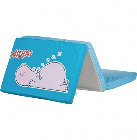 Caretero Safari Foldable Travel Mattress - Hippo Blue