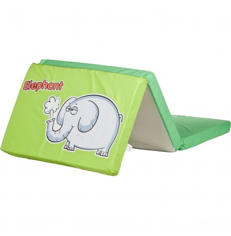 Caretero Safari Foldable Travel Mattress - Elephant Green