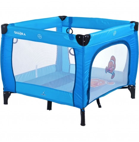 Caretero Quadra Travel Playpen - Blue