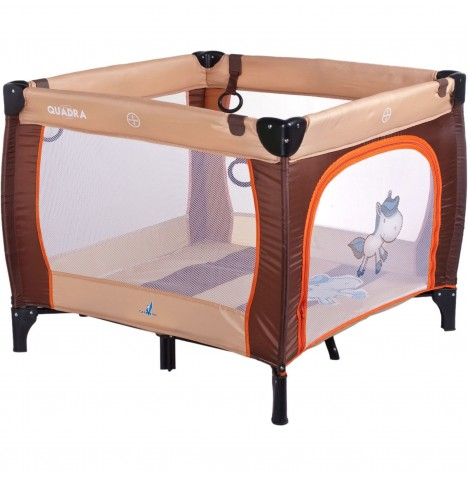 Caretero Quadra Travel Playpen - Brown