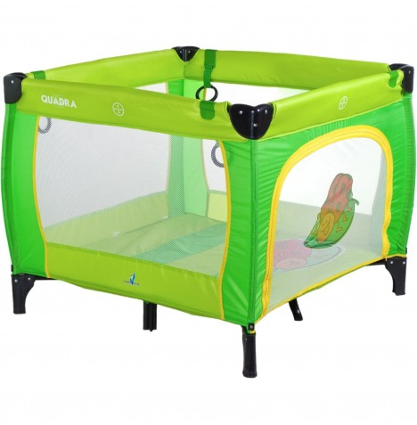 Caretero Quadra Travel Playpen - Green