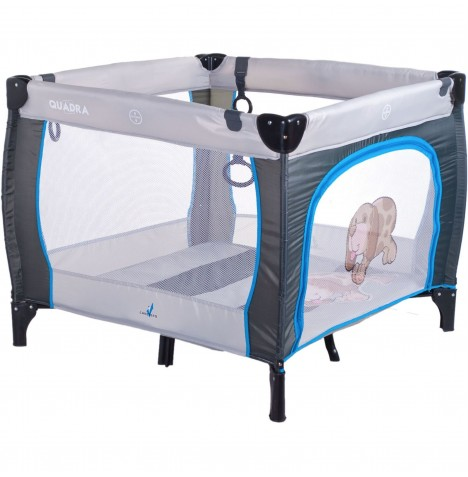 Caretero Quadra Travel Playpen - Grey