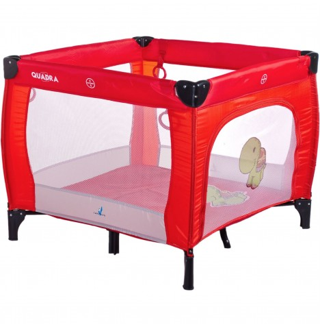 Caretero Quadra Travel Playpen - Red