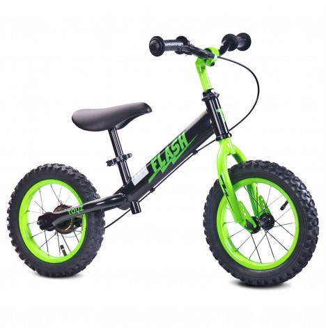 Toyz Flash Balance Bike - Black / Green