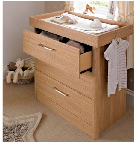 Mamas & Papas Metropolis Dresser / Changing Unit - Oak