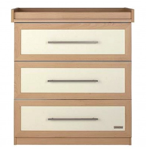 Mamas & Papas Murano Dresser / Changing Unit - Ivory / Natural
