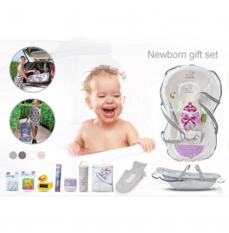Maltex Baby Bath Gift Set With Accessories - Zebra White
