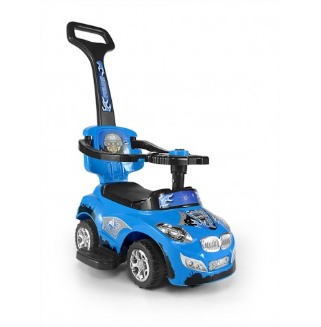 Milly Mally Happy Baby 3in1 Ride-On Car - Blue