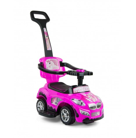 Milly Mally Happy Baby 3in1 Ride-On Car - Pink