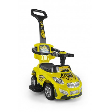 Milly Mally Happy Baby 3in1 Ride-On Car - Yellow