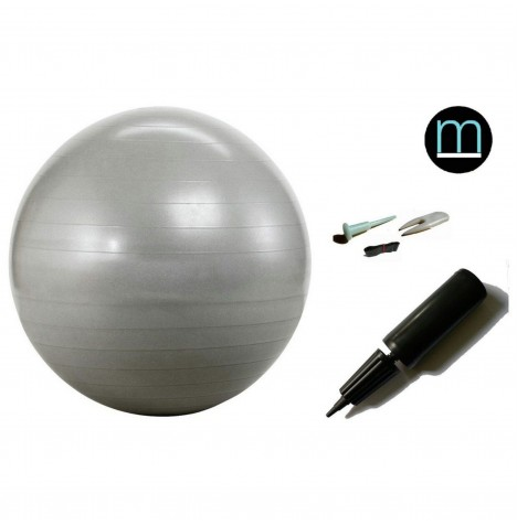House Of Miracles The Miracle Bag Exercising / Birthing Ball (65cm) & Pump - Silver