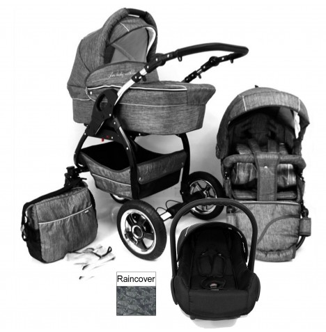 DaVos Lucky 2in1 Travel System - Grey Linen