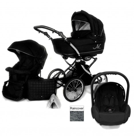 DaVos Classic ML 2in1 Travel System - Black