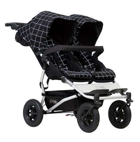 Mountain Buggy Duet V3 Twin Pushchair - Grid