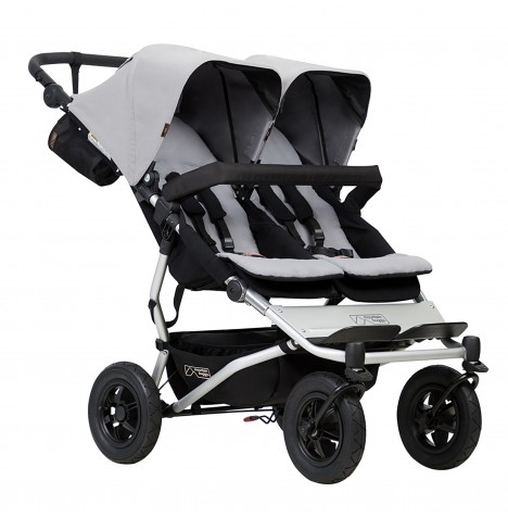 Mountain Buggy Duet V3 Twin Pushchair - Silver