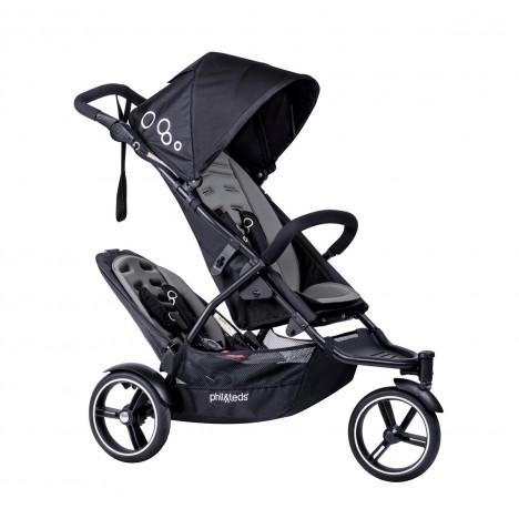 Phil & Teds DOT Pushchair (With Double Kit) - Graphite