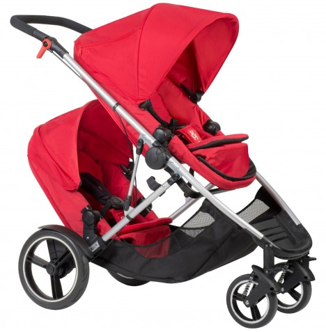 Phil & Teds Voyager Tandem Pushchair - Red