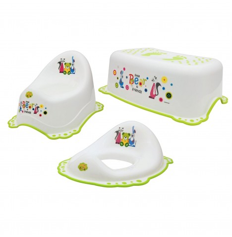 Maltex Potty / Toilet Training 3pc Set - Little Bear White