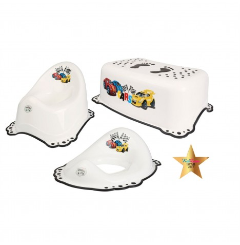 Maltex Potty / Toilet Training 3pc Set - Cars White
