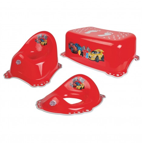 Maltex Potty / Toilet Training 3pc Set - Cars Red