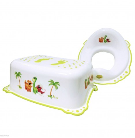 Maltex Toilet Training 2pc Set - Dino White
