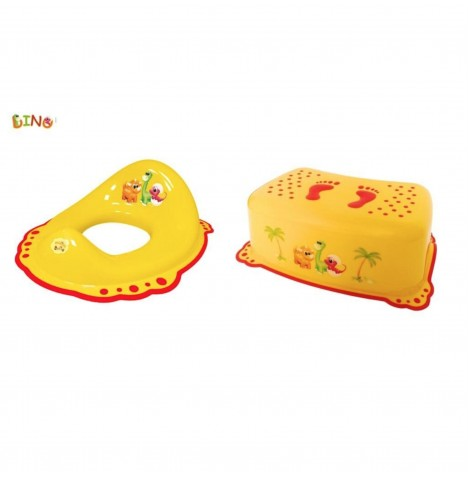 Maltex Toilet Training 2pc Set - Dino Yellow