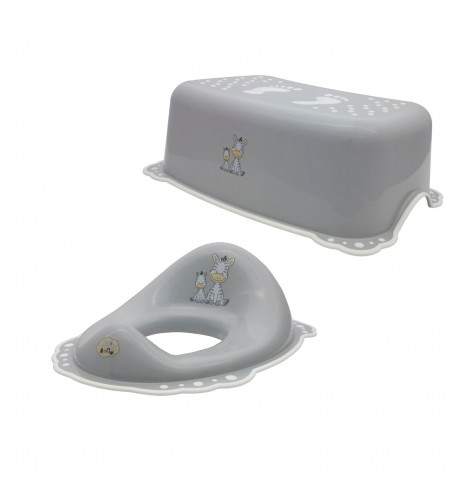 Maltex Toilet Training 2pc Set - Zebra Grey
