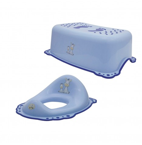 Maltex Toilet Training 2pc Set - Zebra Blue