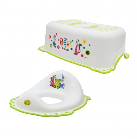 Maltex Toilet Training 2pc Set - Little Bear White