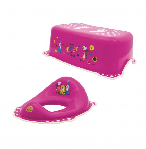 Maltex Toilet Training 2pc Set - Little Bear Pink