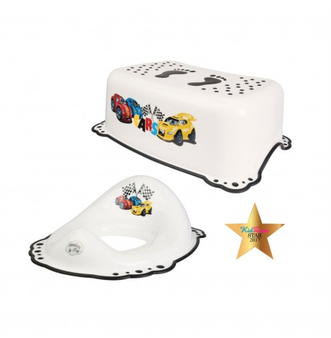Maltex Toilet Training 2pc Set - Cars White