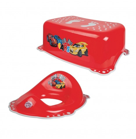 Maltex Toilet Training 2pc Set - Cars Red