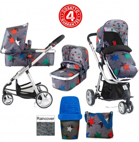 Cosatto Giggle 2 Combi 3 in 1 Pushchair - Grey Megastar