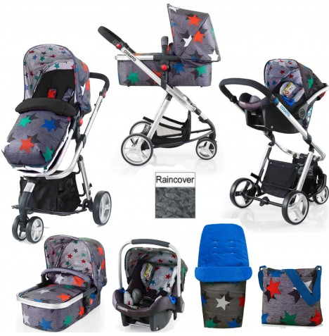 Cosatto Giggle 2 Combi 3 in 1 Travel System - Grey Megastar