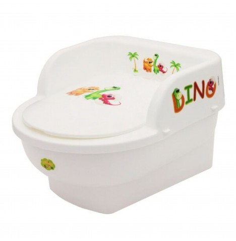 Maltex Toddler Potty Throne - Dino White