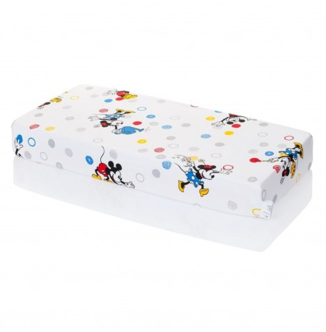 Hevea Cot Bed Fitted Sheet - Disney Mickey & Minnie Mouse