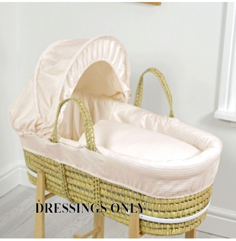 4baby Palm Moses Basket Dressings - Cream Waffle