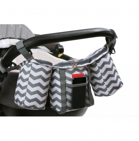 House Of Miracle The Miracle Bag Buggy Organiser - Grey / White