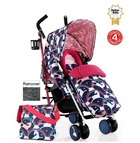 Cosatto Supa Pushchair Stroller + Free Changing Bag - Magic Unicorns