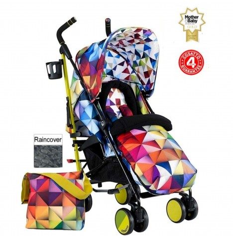 Cosatto Supa Pushchair Stroller + Free Changing Bag - Spectroluxe