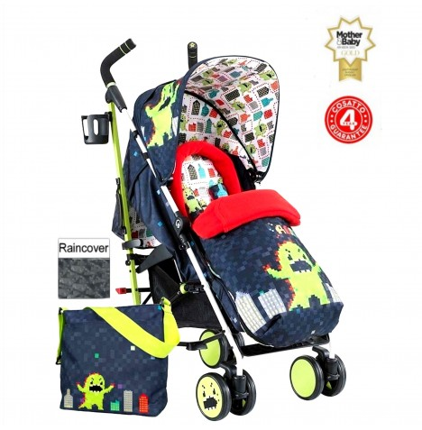 Cosatto Supa Pushchair Stroller + Free Changing Bag - Monster Arcade