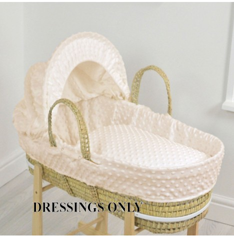 4baby Palm Moses Basket Dressings - Cream Dimple
