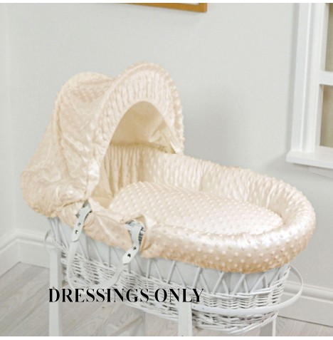 4baby Wicker Moses Basket Dressings - Cream Dimple