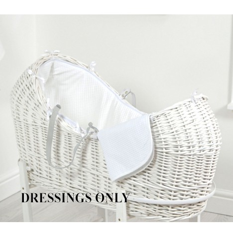 4baby Wicker Snooze Pod Dressings - White Waffle