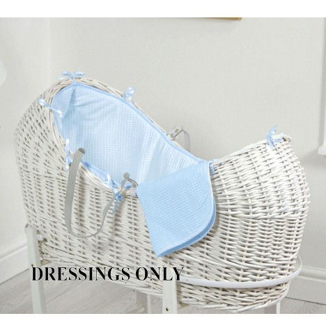 4baby Wicker Snooze Pod Dressings - Blue Waffle