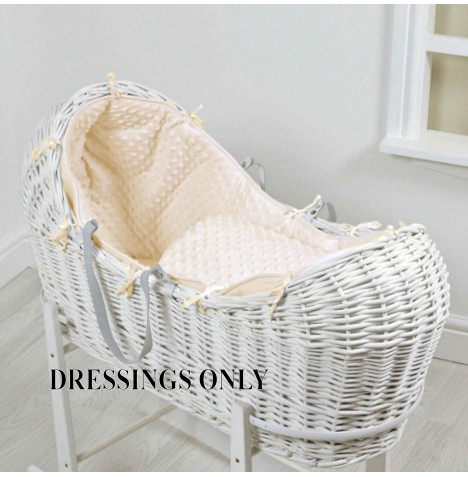 4baby Wicker Snooze Pod Dressings - Cream Dimple