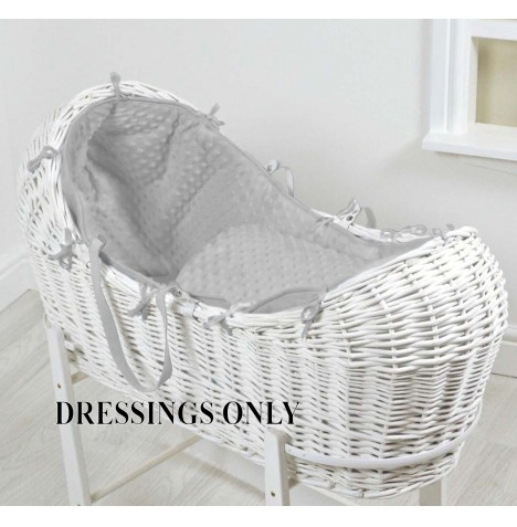 4baby Wicker Snooze Pod 2 Piece Dressing Set - Grey Dimple