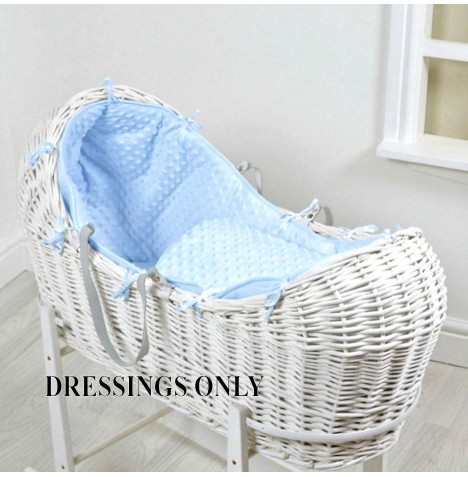 4baby Wicker Snooze Pod Dressings - Blue Dimple